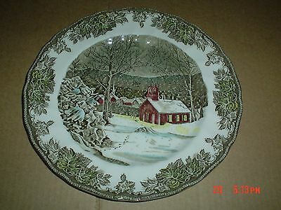 Johnson Brothers THE SCHOOL HOUSE Salad Small Dinner Plate THE FRIENDLY VILLAGE