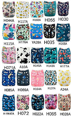 20pcs ALVA Baby Cloth Diapers with 20pcs Microfiber Inserts Pocket Diaper Lot