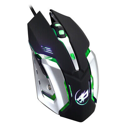 LED Light Wired 2400DPI Optical Usb Ergonomic Pro Gamer Gaming Mouse Mice R6