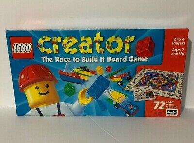 Lego Creator The Race To Build It Board Game 1999 Complete