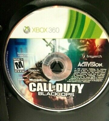 Microsoft Xbox 360 Disc Only  Call of Duty Black Ops COD Tested Working