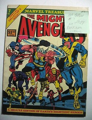 Vintage Oversize Marvel Treasury Edition Comic MIGHTY AVENGERS 7 BUSCEMA VF+