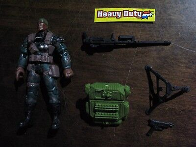Vintage GI Joe HEAVY DUTY v6 Complete Action Figure COBRA ARAH Valor vs Venom
