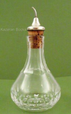 Vintage Sterling Silver Cap Glass Bottle Dash Bitters Liquor Pourer 1955 Working