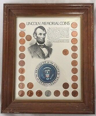Lincoln Memorial Coins U.s. Pennies Framed