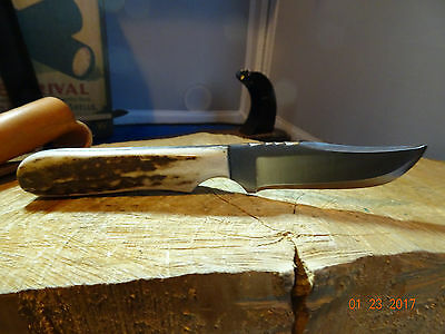 """ANZA 6 1/8"""" FIXED blade KNIFE, blade made from a file which has been annealed"""