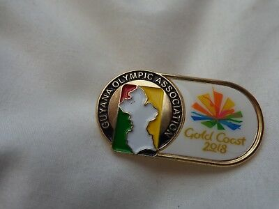 Australia Gold Coast 2018 Commonwealth Games - Guyana Team Pin Badge