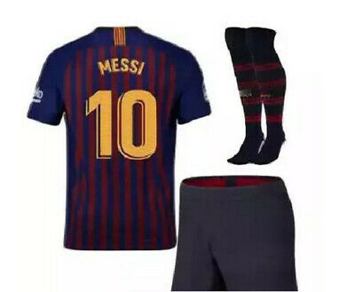 a90a05164 Barcelona 2019 Home Blue Messi  10 Kids Jersey + Shorts + Socks All Youth  Sizes