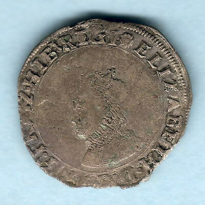 Ireland.  (1558)  Elizabeth 1 - Base Groat..  MM-Rose..  REGI..  gFine