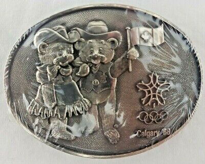 Calgary '88 Olympic Games - Belt Buckle - Award Design Medals -  New/Sealed