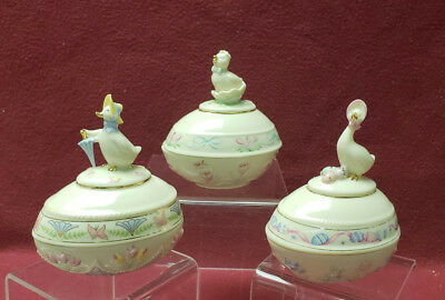 Three (3) LENOX China Collection - Annual EASTER EGG BOXES - 2003, 2004, 2006