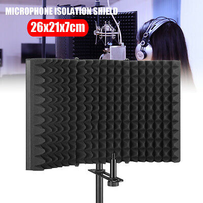 Foldable Microphone Isolation Shield Acoustic EVA Foam Mic Sound Absorber Screen