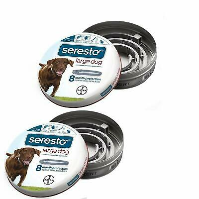 Bayer Seresto Flea and Tick Collar for Large Dog (Over 18lbs) 8 Month 2 pack