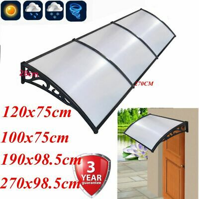Large Door Window Canopy Awning Porch Front Shelter Patio Roof Rain Cover White