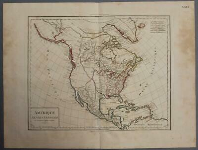 North America 1803 Poirson Unusual Antique Original Copper Engraved Map