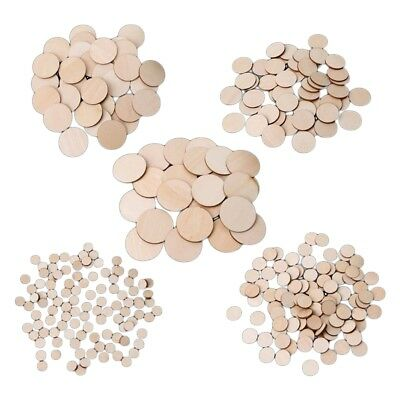 10-50mm Unfinished Wooden Round Discs Embellishments DIY Rustic Art Crafts FAST