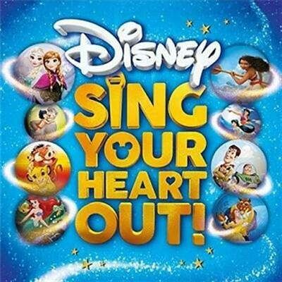 DISNEY SING YOUR HEART OUT feat songs from Frozen, The Lion King & Moana 2CD NEW