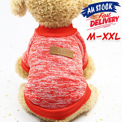 Cute Pet Clothes Knitted Puppy Coat Winter Warm Jumper Knitwear Cat Dog Sweater