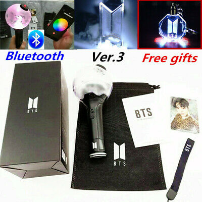 Kpop BTS Bluetooth Light Stick VER.3 ARMY BOMB Concert Bangtan Boys W Free Gifts