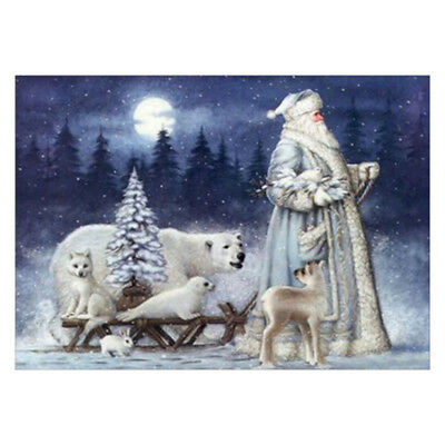 Full Drill DIY 5D Diamond Painting Embroidery Cross Stitch Christmas Santa  ACVT