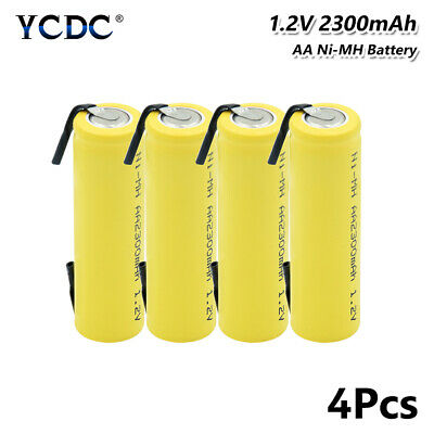 Rechargeable Ni-MH AA Battery 1.2V 2300mAh UM3 HR6 For Razor Torch Toys 4Pcs FA