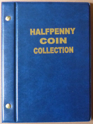 VST AUSTRALIAN HALF PENNY ½d COIN ALBUM 1910 to 1964 with MINTAGES - BLUE Colour