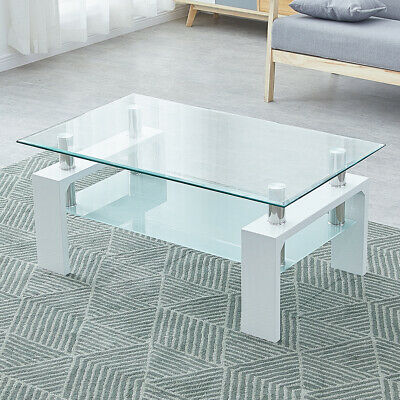 Modern Glass Coffee Table Piano Design Home Living Room Student Study / Office