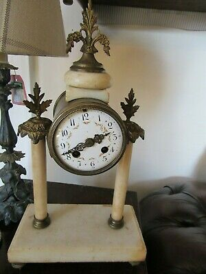 Antique Peach Marble Ormolu French Portico Clock Spares Repairs Restoration