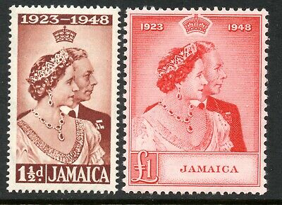 Jamaica 1948 Silver Wedding SG 143 & 144 unmounted mint (cat. £28.30)