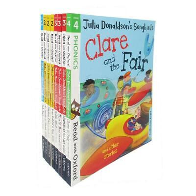 Julia Donaldson's Songbirds Read With Oxford Phonics (Stage 1 To 4) 8 Books Clar