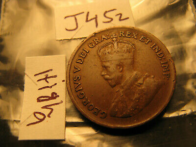 Canada 1929 High 9 Variety Small Cent ID#J452.