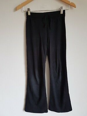 Girls Black Jogging Bottoms Age 10-11 Years  <S3596