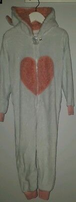 Girls All In One Suit White Rabbit Age 4-5 <MJ2620