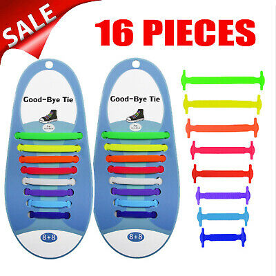 Colorful Easy Lazy No Tie Elastic Silicone Shoe Laces Cool Guy Shoelaces Adult