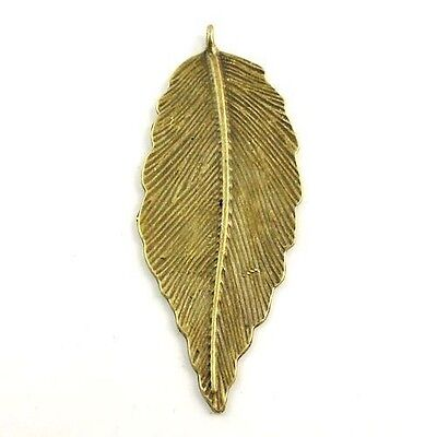 Antique/Vintage Bronze Tone Alloy Leaf Pendant Finding Charm 20 pcs