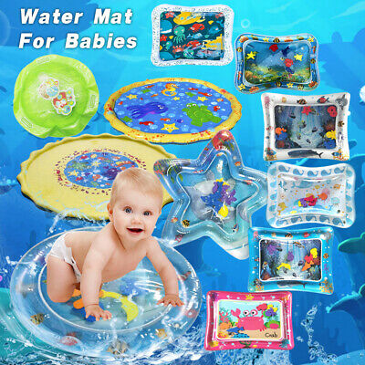 Water Mat Baby Inflatable Water Play Mat Tummy Time Playmat Fun Activity New LO