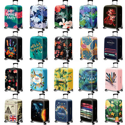 """18"""" -32"""" Printed Elastic Trolley Suitcase Protective Cover Luggage Thicker Cover"""