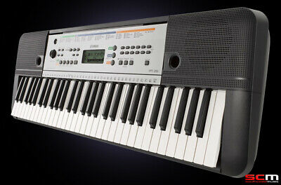 Yamaha Portable Keyboard YPT-340A On-Board Lessons, USB & Adaptor