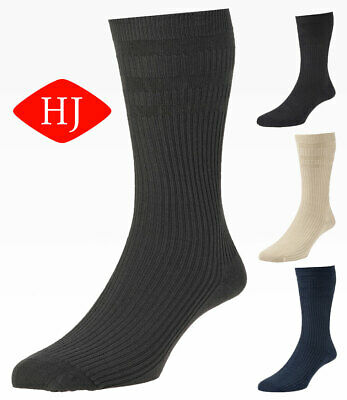 HJ191 Hall Men Softop Extra Wide Cotton Rich No Elastic Sock
