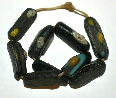 Rare Ancient Roman Glass Excavated Dig Beads Afghanistan Trade - 1000 Years Old