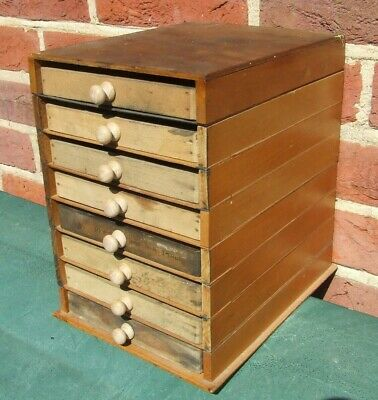 Letterpress Printing Adana Wooden Sectional Type draw Cabinet with 8 small cases