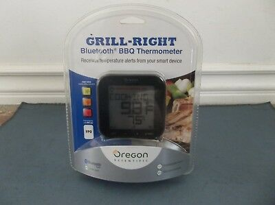 Oregon Scientific AW133 Grill Right Bluetooth BBQ Barbeque Thermometer - Black