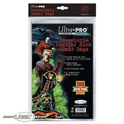 100 - Ultra Pro Regular Resealable 2-Mil Polypropylene Comic Book Bags - Old Pkg