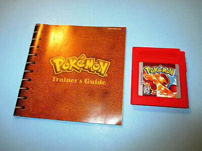 Pokemon: Red Version Game Boy Gameboy Game Color Advance SP w/Manual