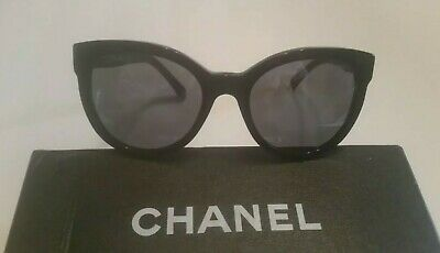 6e9465e2c0 CHANEL 5315 Oversized Cat Eye Black CC Pantos Authentic Sunglasses