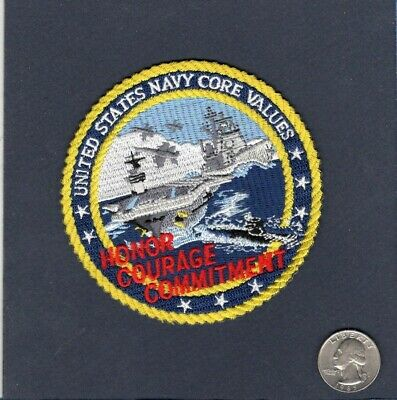 United States Navy CORE VALUES US Navy Sailor Ship Squadron Patch