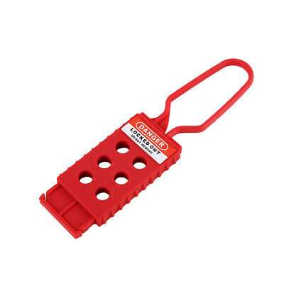 Nylon Safety Fully Insulated Insulation Lockout Hasp LOTO, up to 6 Devices