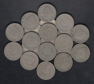 1883-1912 Usa Liberty Head Nickels Lot Of 40