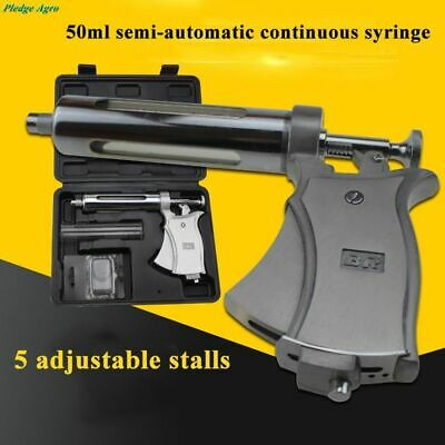 Adjustable Syringe Automatic 50ml Continuous Vaccine Injection Veterinary Farm