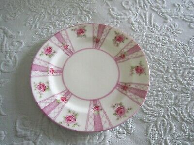 Vintage LONGTON & SONS England Hand Painted Roses LUNCHEON PLATE Gainsborough